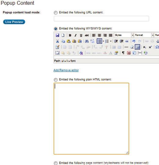 wordpress всплывающее окно